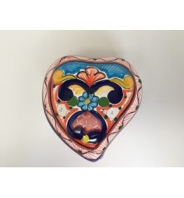Talavera Heart Jewelry Box