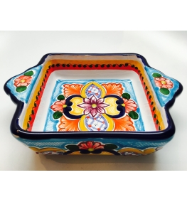Talavera Square Bowl - 4.7 Inches