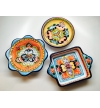 Talavera Snack Tray three compartments