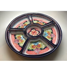 Talavera Snack Tray - Six Compartments