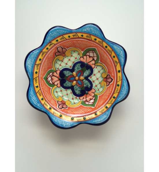 Talavera Bowl - Flower Shape